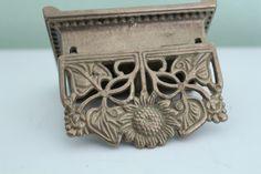 Vintage Brass Stamp Holder, Antique Stamp Box, Postage Box, Brass Stamp Holder…