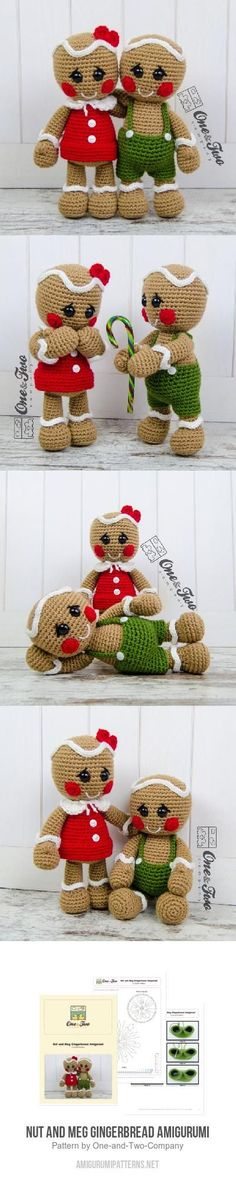 Nut and Meg the Gingerbreads amigurumi pattern