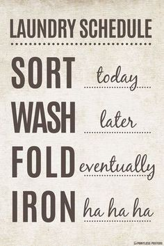 Laundry Schedule Poster is part of Laundry schedule - Ships Free! In Stock Ships in 12 days Poster Size 12 x 18 Printed on heavyweight gsm) poster paper Printed in the USA Suitable for framing Laundry Schedule, Laundry Closet, Laundry Rooms, Laundry Shop, Basement Laundry, Laundry Decor, Laundry Hacks, Farmhouse Side Table, Farmhouse Decor