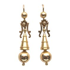 1stdibs | Chic Antique Gold Earrings-19th century Amersterdam