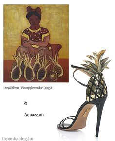 Painting by Diego Rivera, shoes by Aquazzura