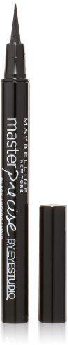 Maybelline New York Eye Studio Master Precise Liquid Eyeliner, Black, 0.037 fl. Oz. on shopstyle.com