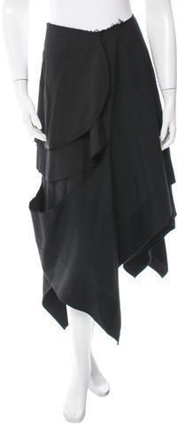 Comme des Garçons Wool Asymmetrical Skirt