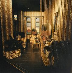 interior of legendary 1970s shop Biba. High St Kensington, London