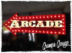 Custom arrow vintage arcade light up marquee sign for home decor