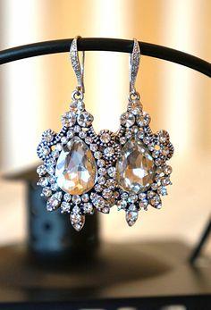 Beautifully Vintage Inspired Wedding Drop Dangle by VintagePinch, $54.99