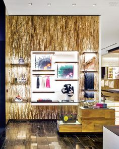 Inspiration for A's dressing room Fendi's Flagship by Peter Marino Brings Italy to Midtown |