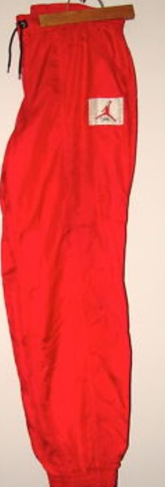 AJ 4 - Red colour range Warm up Trousers 1989