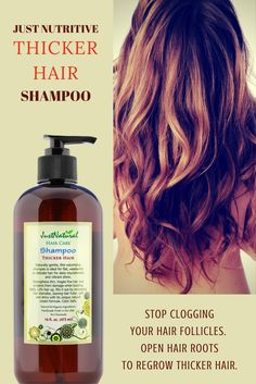 Right away your hair begins to thicken as the rich  nutrients in this shampoo are absorbed by each  hair strand.  Lifts hair up, fills it out by increasing hair diameter,  leaving hair fuller, soft and shiny without weighing  down your hair. It gently deeps cleanses hair roots for a more full bodied appearance to hair.
