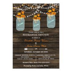 Shop rustic barnwood maple mason jar fall bridal shower invitation created by Invitationboutique. Mason Jar Wedding Invitations, Rehearsal Dinner Invitations, Wedding Invitation Design, Bridal Shower Invitations, Custom Invitations, Invites, Invitation Cards, Fall Rehearsal Dinners, Wedding Rehearsal