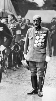 Hideki Tōjō (30 December 1884 – 23 December 1948) was a general of the Imperial Japanese Army (IJA), the leader of the Taisei Yokusankai, and the 40th Prime Minister of Japan during most of World War II, from 17 October 1941 to 22 July 1944.