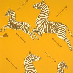 scalamandre zebra wallpaper | Habitually Chic