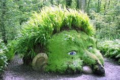 Susan Hill's sculpture The Giant's Head in the Lost Gardens of Heligan. Source