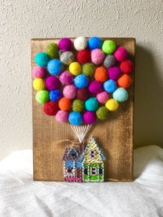 UP House String Art Hot Air Balloon String by PurplePalletDesigns