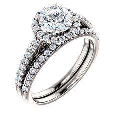 1.0 Ct Round Diamond Engagement Ring 14k White Gold – Goldia.com