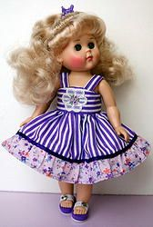"**Purple Bliss** Dress & Bloomers for Modern Ginny 8"" Dolls by Vogue. A sweet handtailored dress and bloomers for your doll. New and at my website now for instant purchase. Click the pix to take you to it."