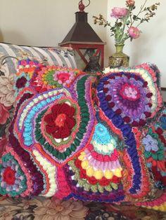 Freeform Crochet Pillow by Urbantownie on Etsy