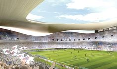 Among the eleven finalists that were announced in the international design competition the 2020 Olympic Stadium proposal of SANAA and Nikken Sekkei for the New National Stadium Japan was really appreciated among Japanese. 2020 Olympics, Tokyo Olympics, Stadium Architecture, Ryue Nishizawa, National Stadium, Sports Stadium, Tokyo 2020, Zaha Hadid Architects, Japanese Architecture