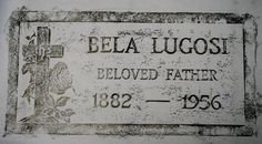 Bela Lugosi Grave Rubbing  Original  Limited by NaysCreeptorium, $40.00