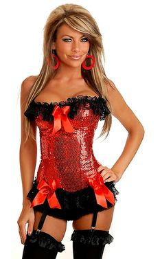 1627ca6619a Sequin Burlesque Underwire Corset w Removable Straps  Sequin corset with  underwire cups