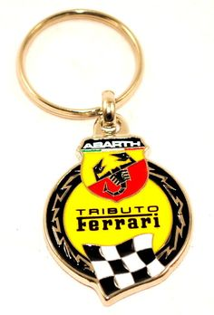 Fiat 500 #punto abarth tributo ferrari key ring key fob holder #genuine #5743460,  View more on the LINK: 	http://www.zeppy.io/product/gb/2/122146553346/
