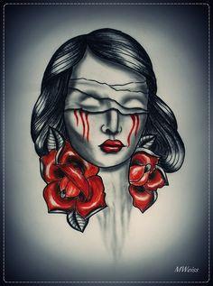kobieta ,róża