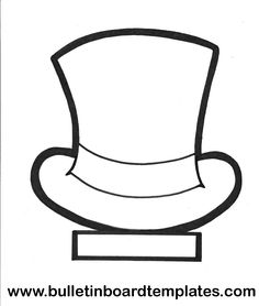 5 Best Images of Printable Snowman Top Hat Pattern - Snowman Top Hat Templates, Snowman Top Hat Template Printable and Printable Snowman Hat Pattern Pirate Hat Crafts, Top Hat Drawing, Puzzle Photo, Hat Template, Mittens Template, New Years Hat, Mad Hatter Top Hat, Magic Hat, Snowman Hat
