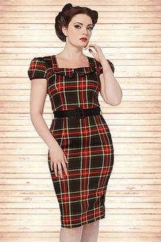 Vixen Check Pencil Dress 100 27 14088 20140924 0003WV
