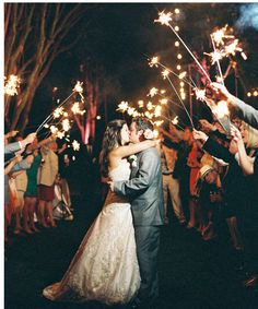 Exit the wedding or dance in a blaze of sparklers!