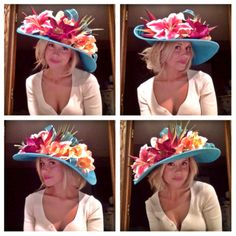 Tropical Derby Hat! Afternoon Crowns - Millinery by Nicole
