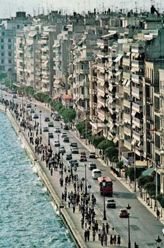 Thessaloniki seafront, from National Geographic, March 1980 Santorini, Beautiful Islands, Beautiful Places, Travel Around The World, Around The Worlds, Places In Greece, Macedonia, Greece Travel, Greek Islands