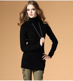 Striped Slim long wool sweater  $68.45