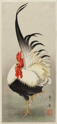 Cock Japanese, Taishô era, Printed in 1914? Shurei, Japanese Dimensions Ôtanzaku; 37.8 x 17.1 cm (14 7/8 x 6 3/4 in.) Medium or Technique Woodblock print; ink and color on paper