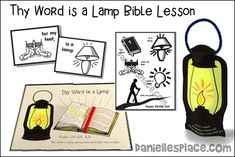 Your Word is a Lamp Bible Lesson Verses For Cards, Bible Lessons For Kids, Resource Room, Thy Word, Bible Activities, Sunday School Lessons, Bible Crafts, Activity Sheets, Happy Life