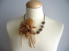 So pretty #flower #fabric #necklace