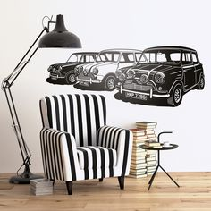 Vinilos Decorativos: Minis Italian Job #londres #decoracion #mini #TeleAdhesivo