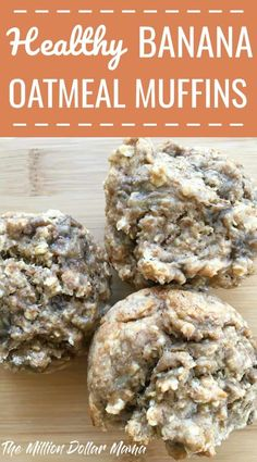 oatmeal muffins healthy no flour & oatmeal muffins . oatmeal muffins healthy no flour . Banana Oatmeal Muffins, Healthy Banana Muffins, Banana Oats, Healthy Toddler Muffins, Applesauce Muffins, Baby Muffins, Breakfast Muffins, Breakfast Meals, Breakfast Healthy