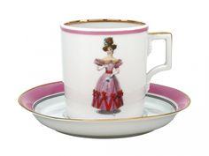 Porcelain Tea Cup 7.4 oz/220 ml Paris Style 1828 Lomonosov Imperial Factory