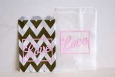 Wedding candy bags  Wedding Love die cut Candy by Justabitofpaper, $10.00