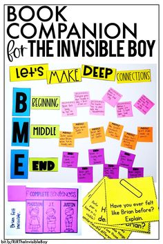 The Invisible Boy Book Companion has everything you need for comprehension, vocabulary, grammar, anchor charts, nonfiction connection, mentor sentences, and more! Daily Lesson Plan, Lesson Plans, Class Pledge, The Invisible Boy, Incomplete Sentences, Mentor Sentences, Classroom Charts, Reading Comprehension Passages, This Is A Book