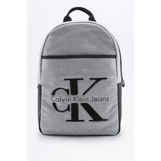 Calvin Klein RE-ISSUE 2.0 Grey Neoprene Backpack (8.620 RUB) ❤ liked on Polyvore featuring bags, backpacks, grey, rucksack bags, backpack bags, grey bag, knapsack bag and top handle bags