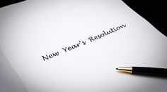 Happy New Year: New Year's Resolutions