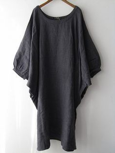 Veritecoeur~~Gray linen dress