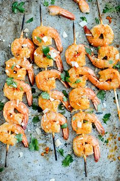 Coconut-Harissa Grilled Shrimp Skewers | www.floatingkitchen.net