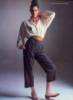 Vogue US February Kim Williams 1985