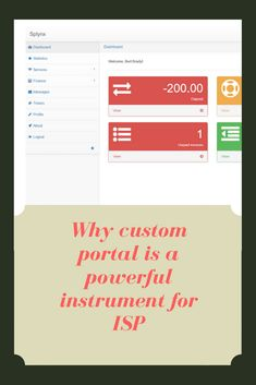 "Automation of the customer portal allows the Internet service provider to reduce labor costs, as well as provide ""great customer service"" - a key differentiator in the WISP marketplace. Customer Service, Portal, Finance, Internet, Messages, Key, Unique Key, Customer Support"