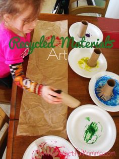 Recycled Materials Art - Toilet Paper Rolls