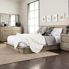 Elegant The Midtown Solid Wood Grey Bedroom Set Will Bring Modern Charm And Harmony  To Your Master