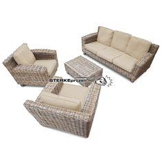 Luxe Rotan Comfort 3-zits Set- ECRU