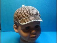 Вязание крючком кепка для мальчика #159 - YouTube
